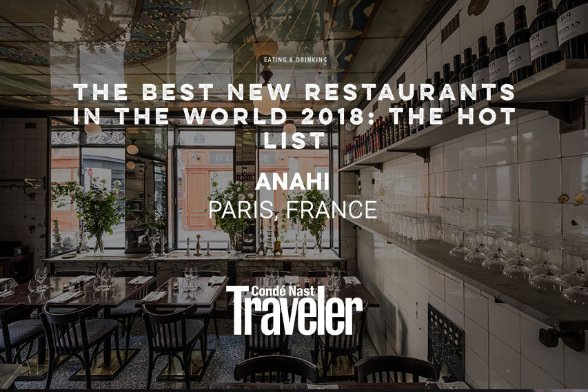 Condé Nast Traveller - The best new restaurant in the world 2018 : Anahi